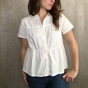🌻 MADEWELL  Seamed Button Down Shirt